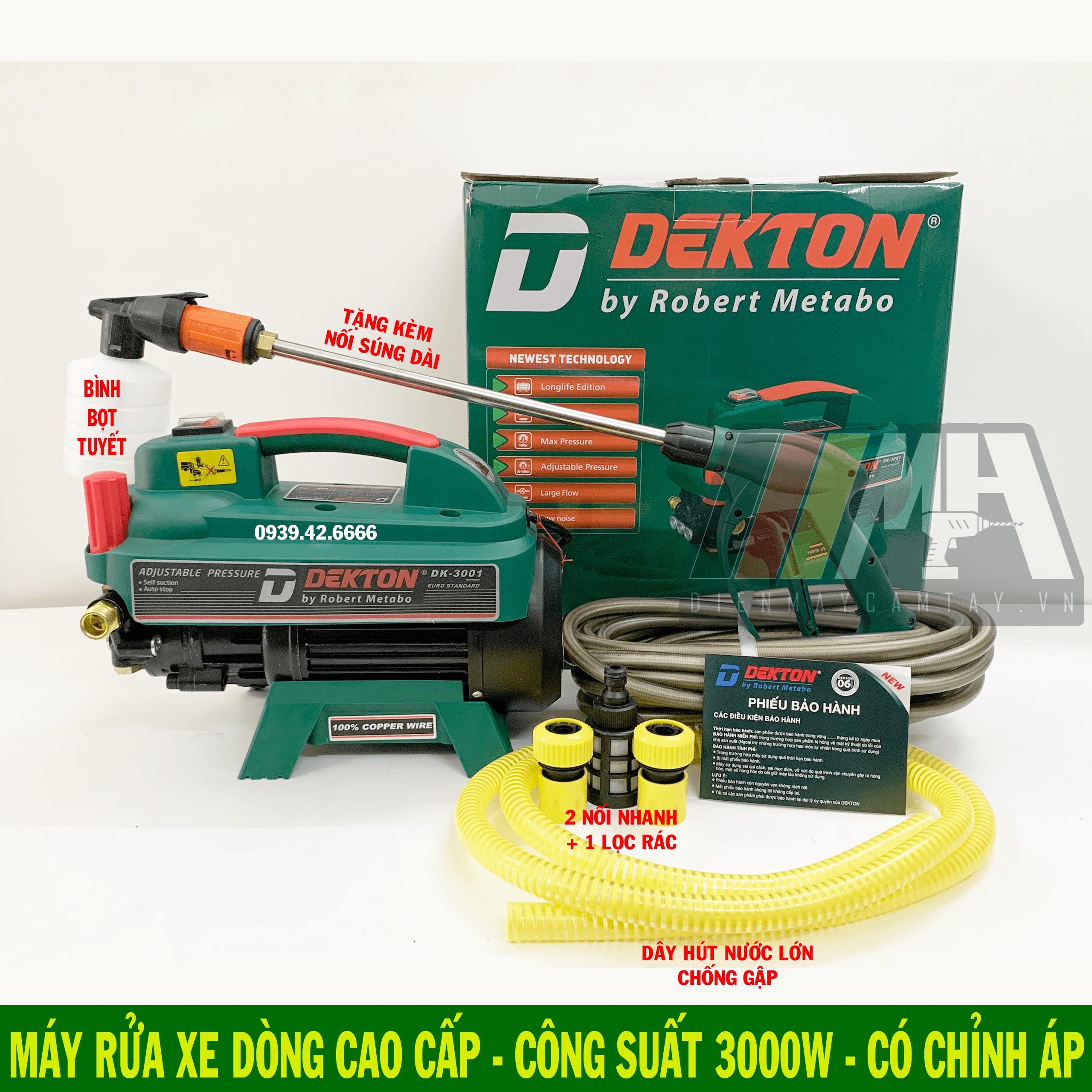 Máy rửa xe chỉnh áp Dekton Model DK-3001 - Điện Máy Cầm Tay